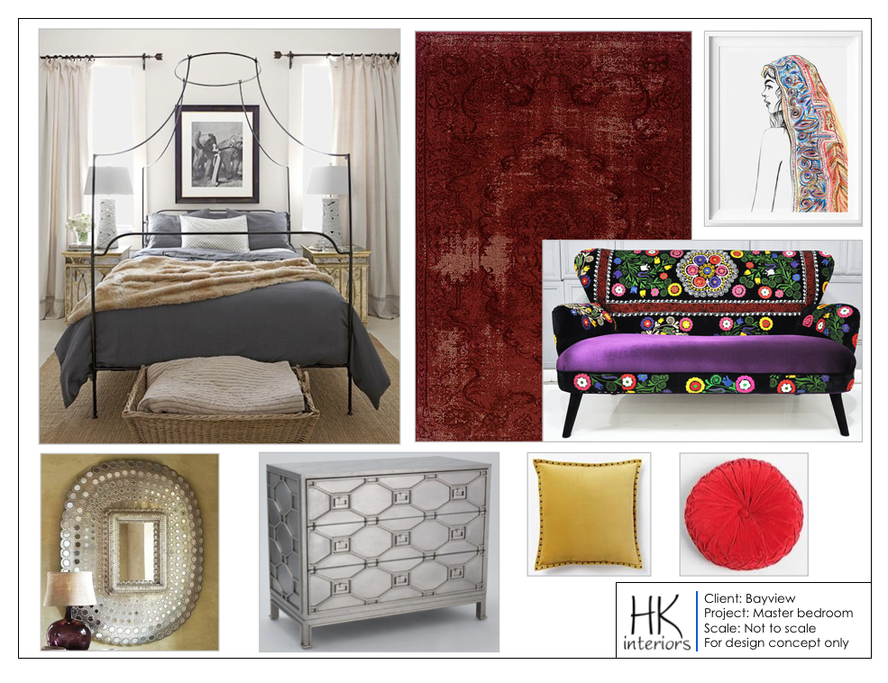 Concept Boards Help To Narrow Your Design Likes And Dislikes. Perhaps You  Want An Eclectic Piece Of Furniture To Be The Focal Point Of Your Bedroom  Design.